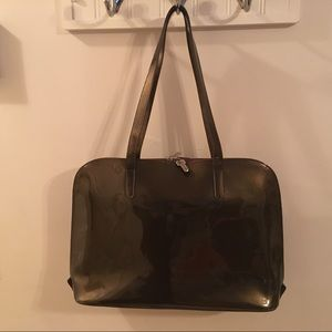 Jack George Patent Leather Laptop / tote Bag